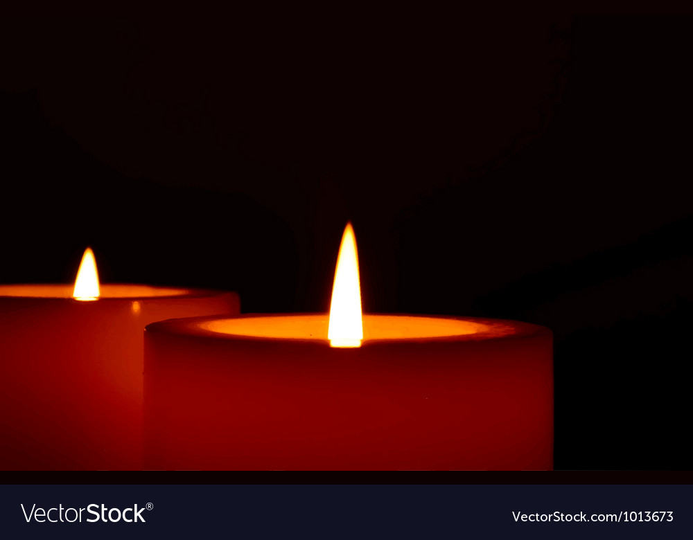Two candles vector | Price: 1 Credit (USD $1)