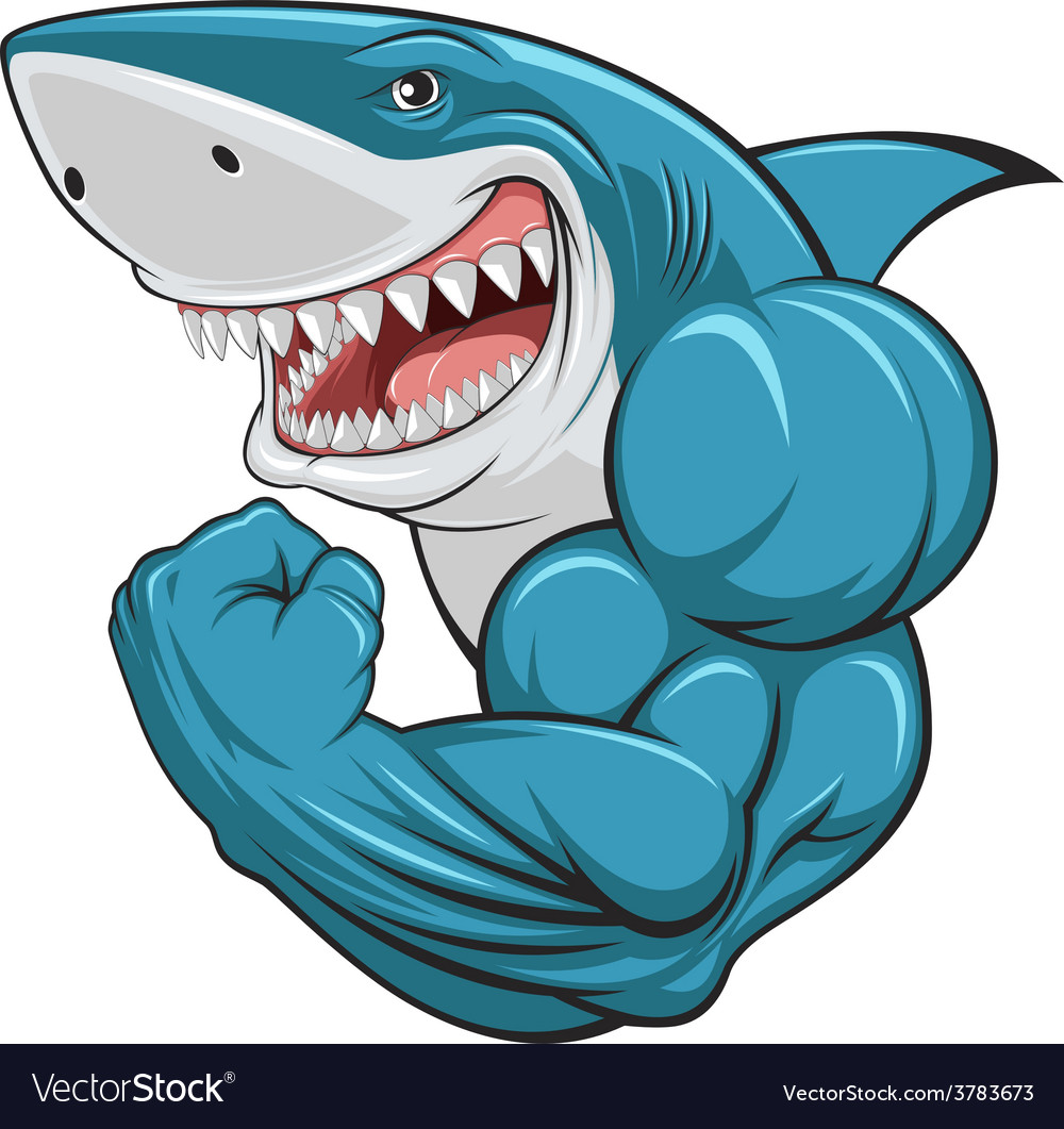 White shark vector | Price: 3 Credit (USD $3)