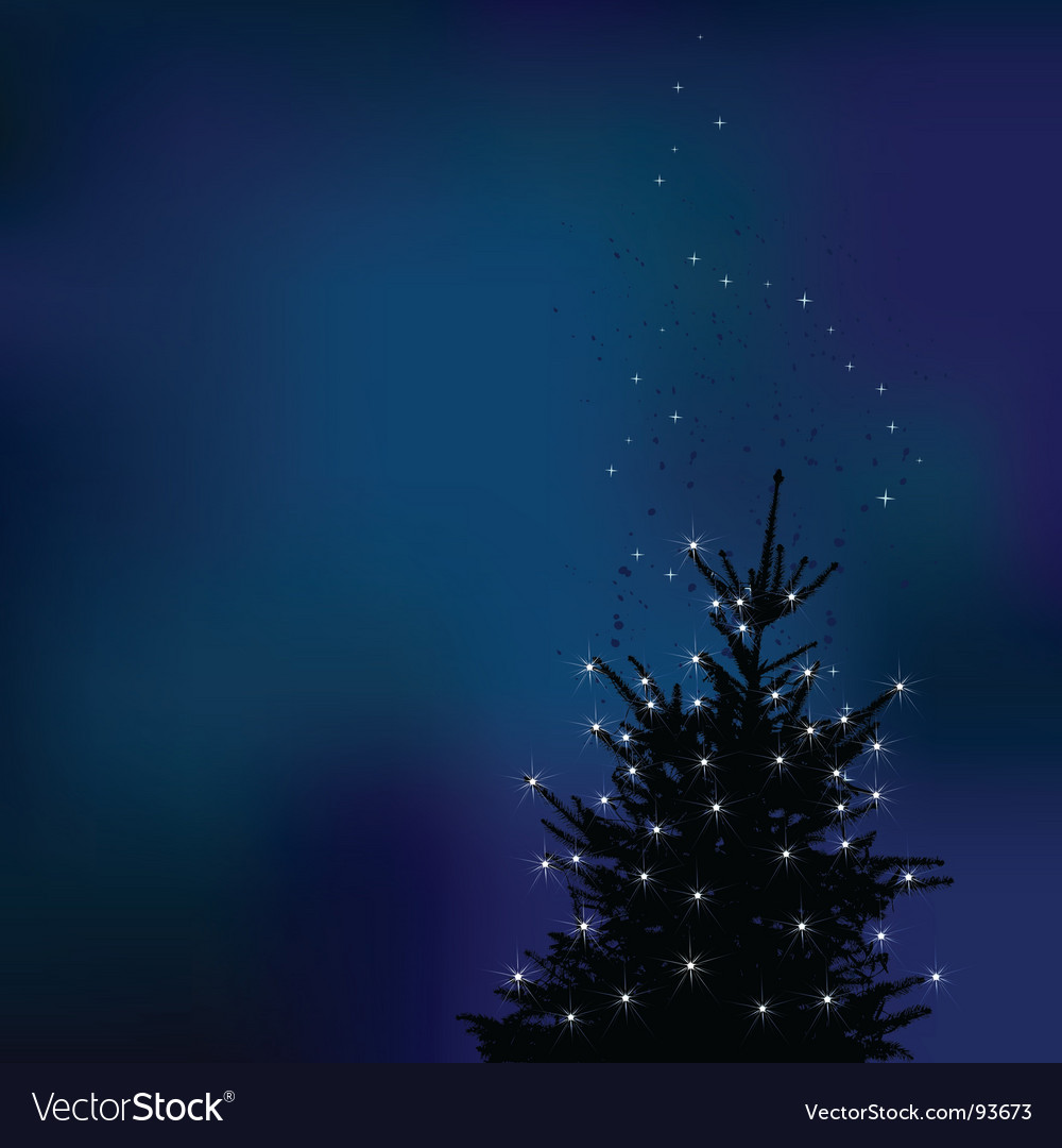 Winter background christmas tree ill vector | Price: 1 Credit (USD $1)