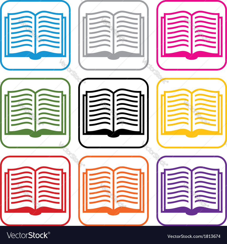 Book symbols vector   Price: 1 Credit (USD $1)