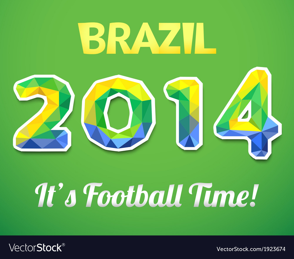 Brazilian 2014 world cup for sport event vector | Price: 1 Credit (USD $1)