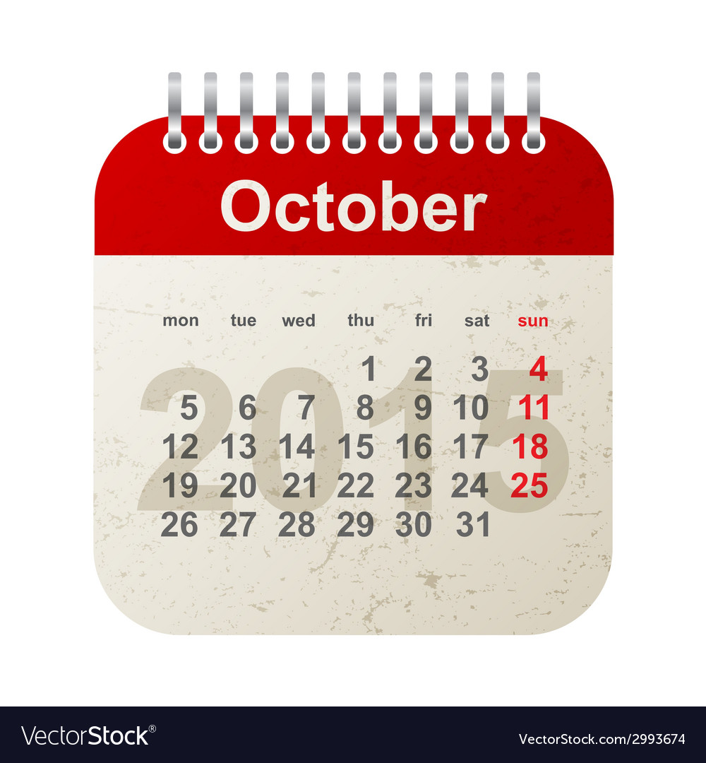 Calendar 2015 - october vector | Price: 1 Credit (USD $1)