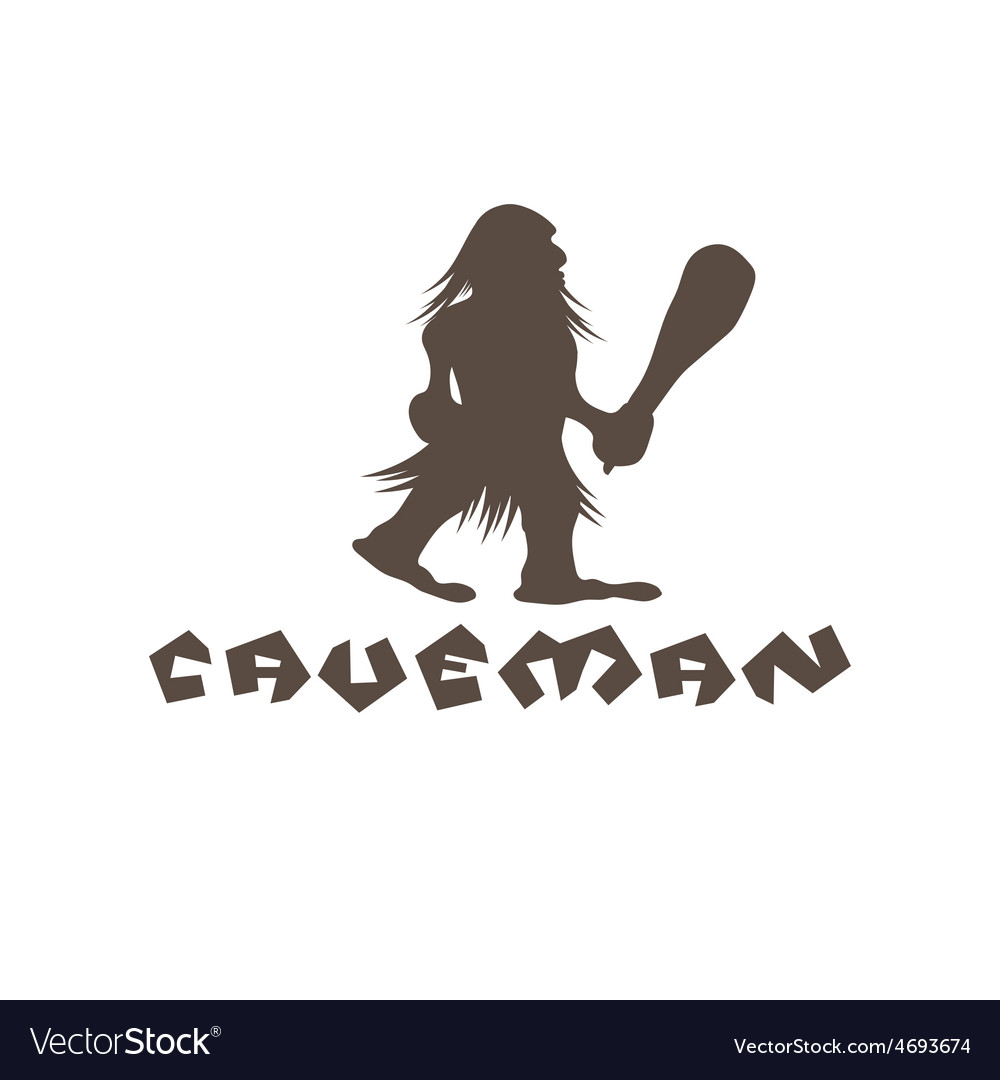 Caveman with a cudgel in his hands vector | Price: 1 Credit (USD $1)