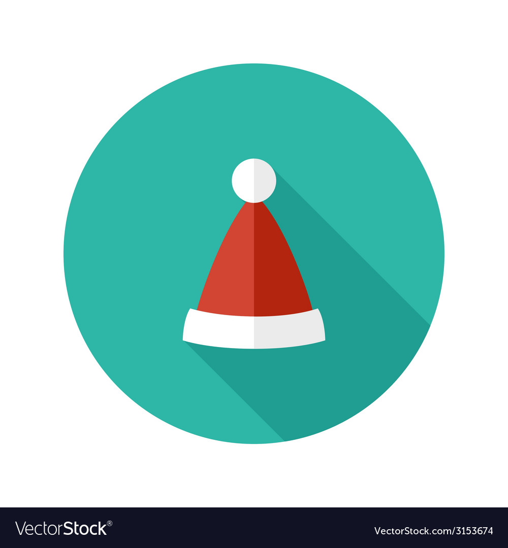 Christmas hat of santa claus flat icon vector | Price: 1 Credit (USD $1)