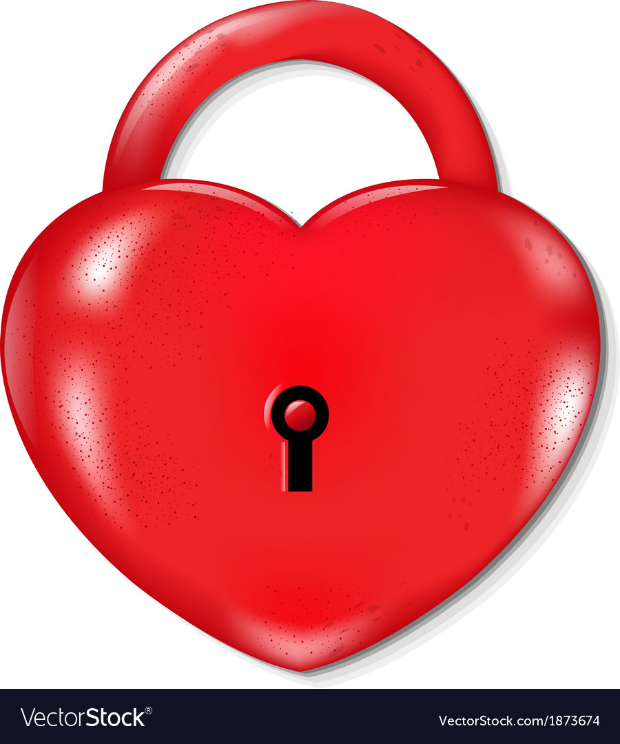 Heart lock vector | Price: 1 Credit (USD $1)