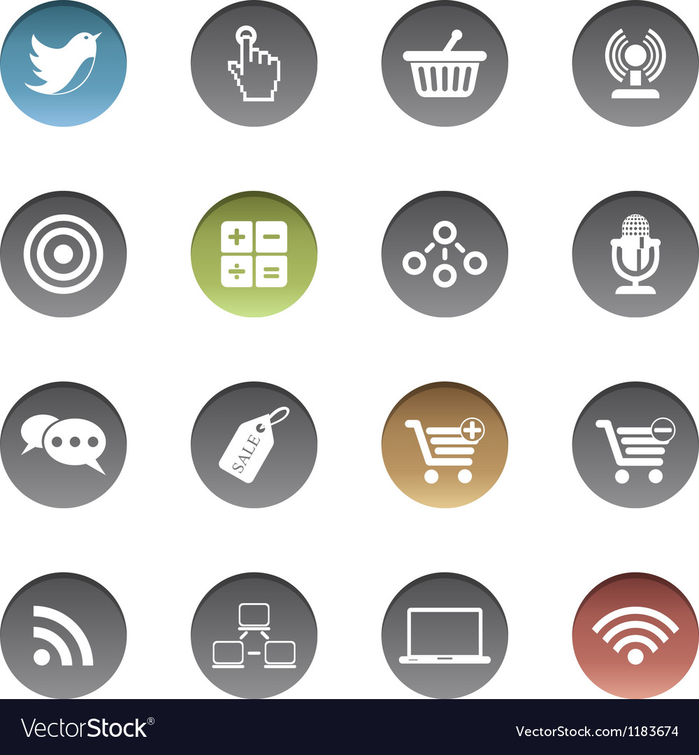Internet-business icons vector | Price: 1 Credit (USD $1)