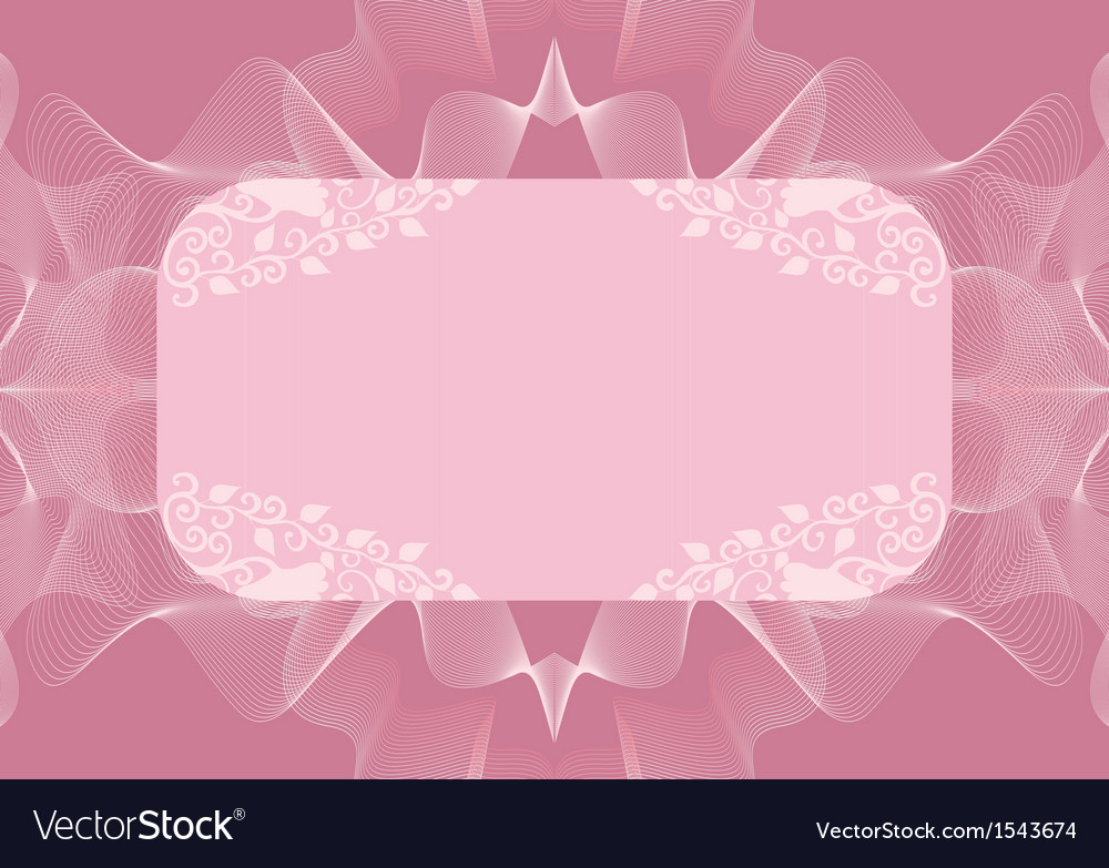 Lilac rectangular frame with decor vector | Price: 1 Credit (USD $1)