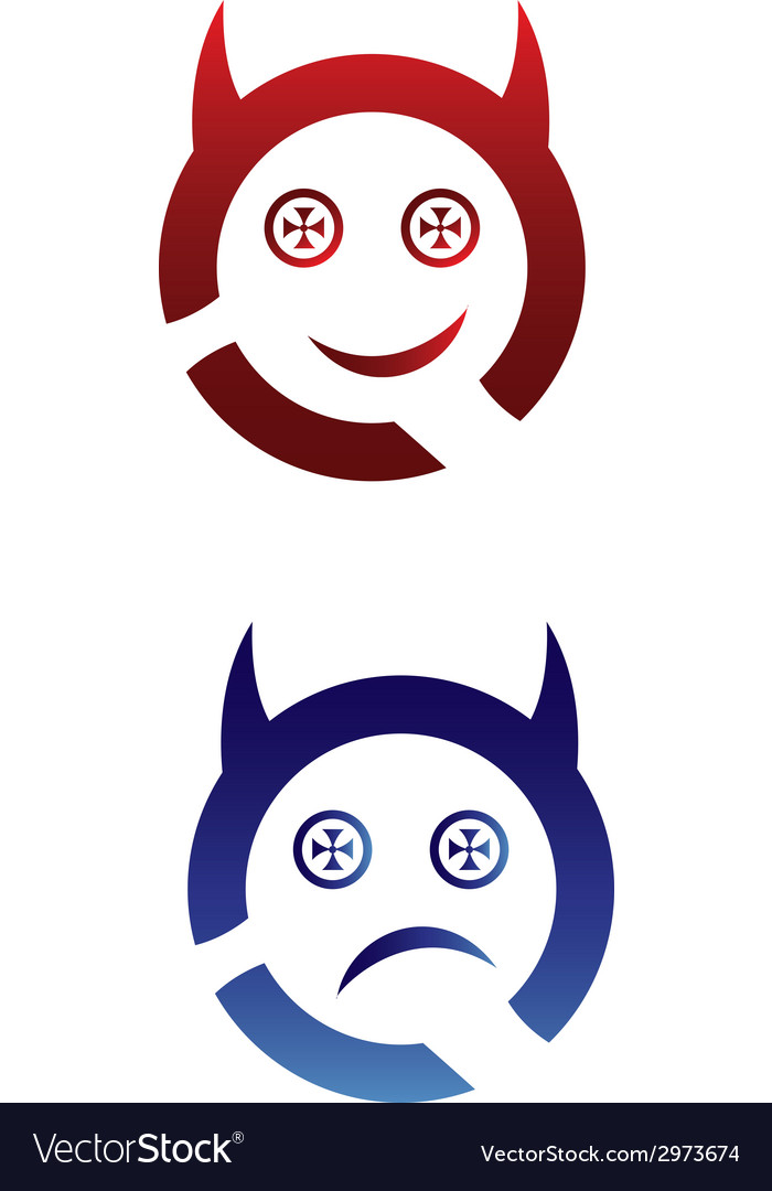 Monster face logo templates vector | Price: 1 Credit (USD $1)