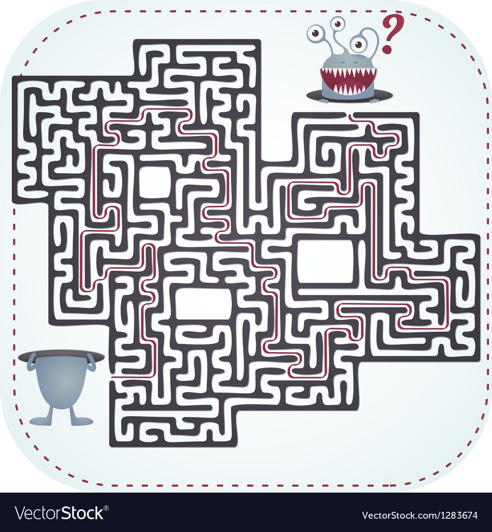 Monster maze vector | Price: 3 Credit (USD $3)