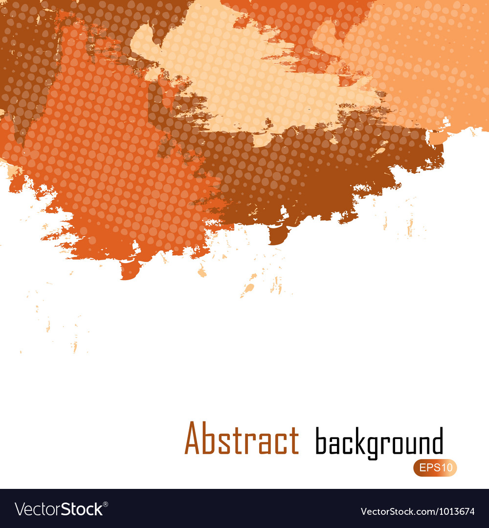 Orange abstract paint splashes  background w vector | Price: 1 Credit (USD $1)