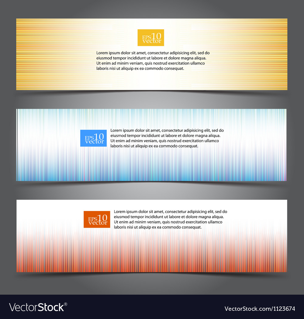 Striped web banners vector | Price: 1 Credit (USD $1)