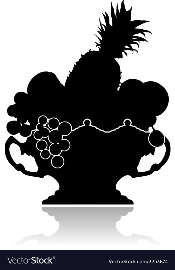Vase with fruit vector | Price: 1 Credit (USD $1)