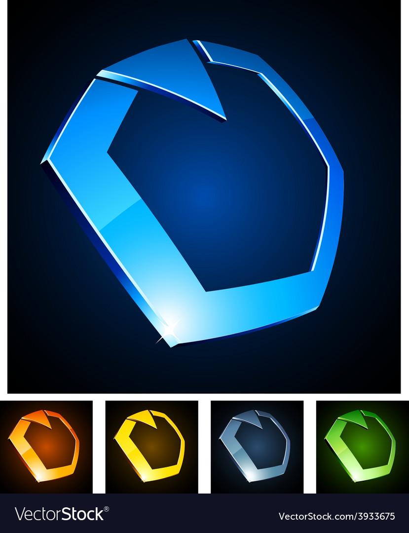 3d ring emblems vector | Price: 1 Credit (USD $1)