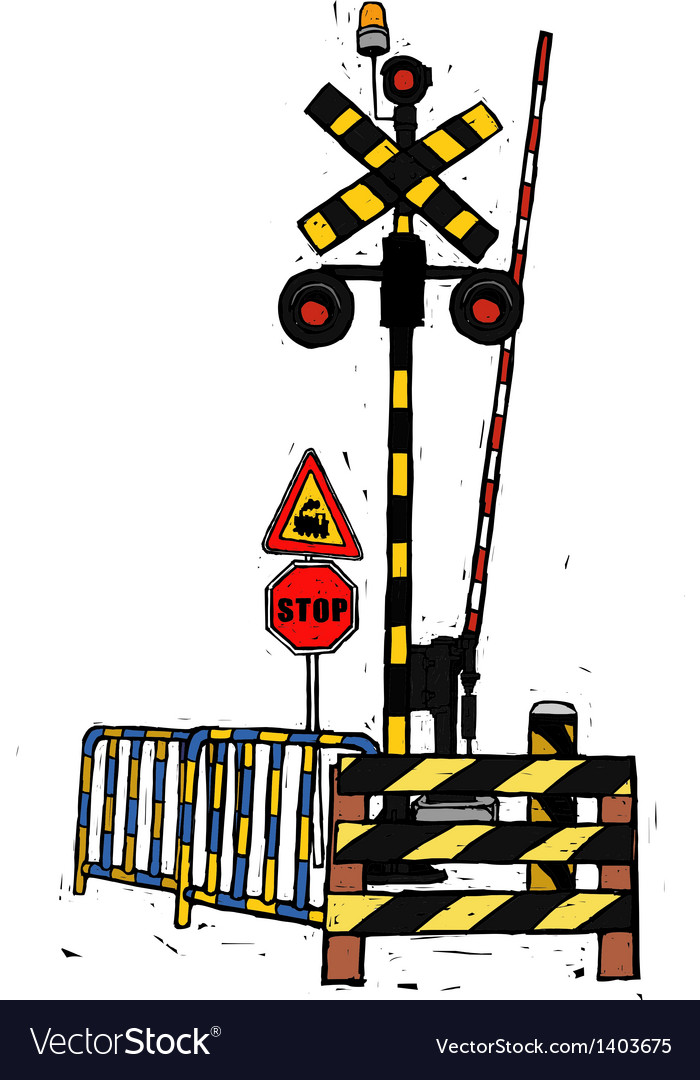 A railway crossing gate vector | Price: 1 Credit (USD $1)