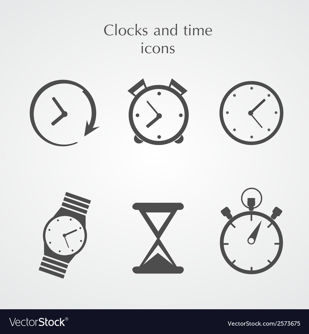 Clocks icons vector | Price: 1 Credit (USD $1)