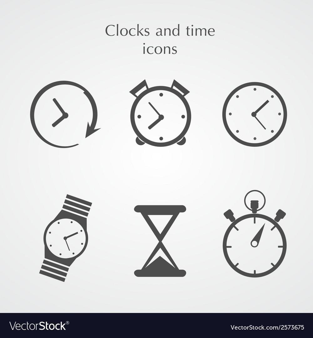 Clocks icons vector | Price: 1 Credit (USD $1)