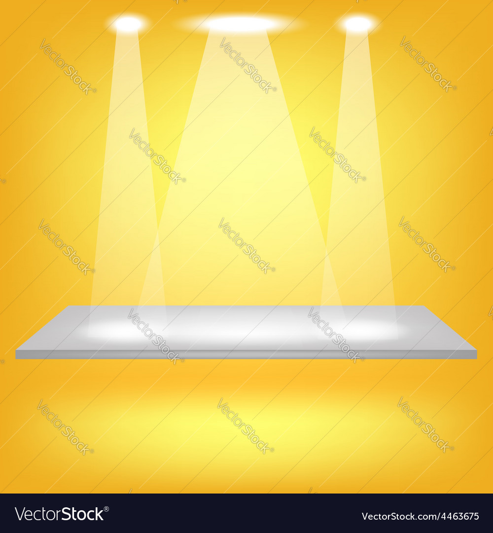 Empty shelf vector | Price: 1 Credit (USD $1)