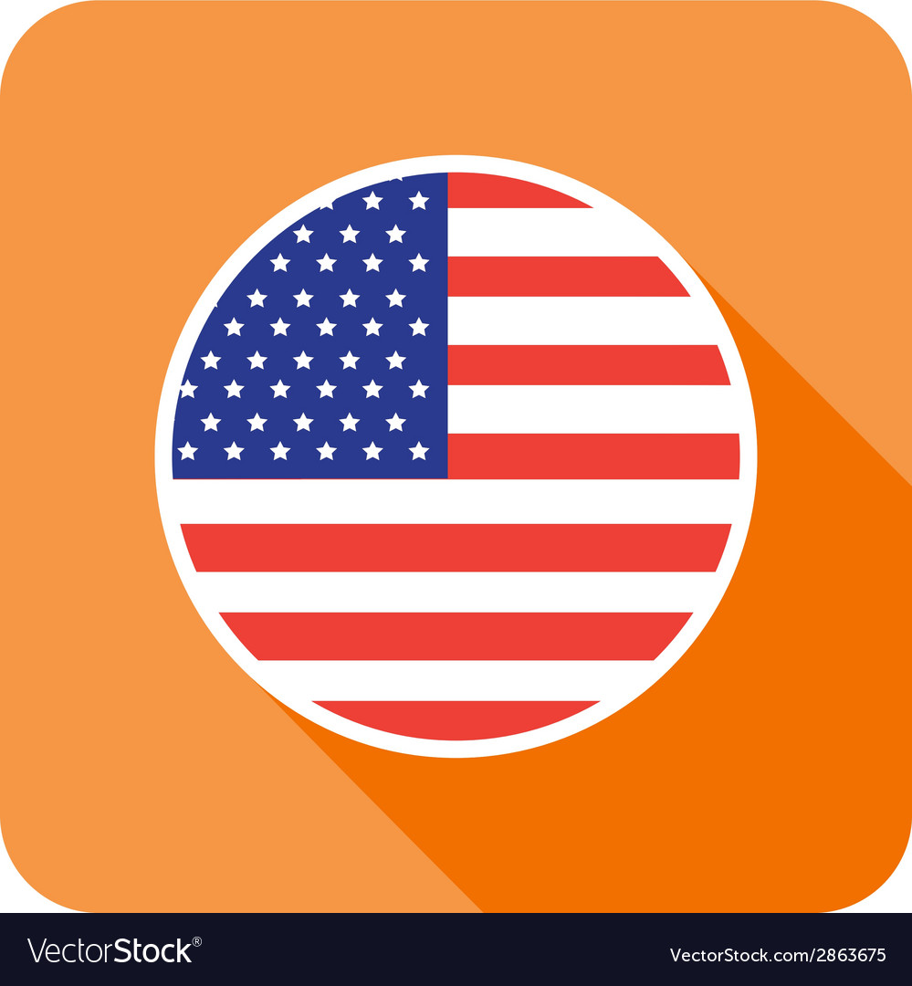 Flat usa icon vector | Price: 1 Credit (USD $1)