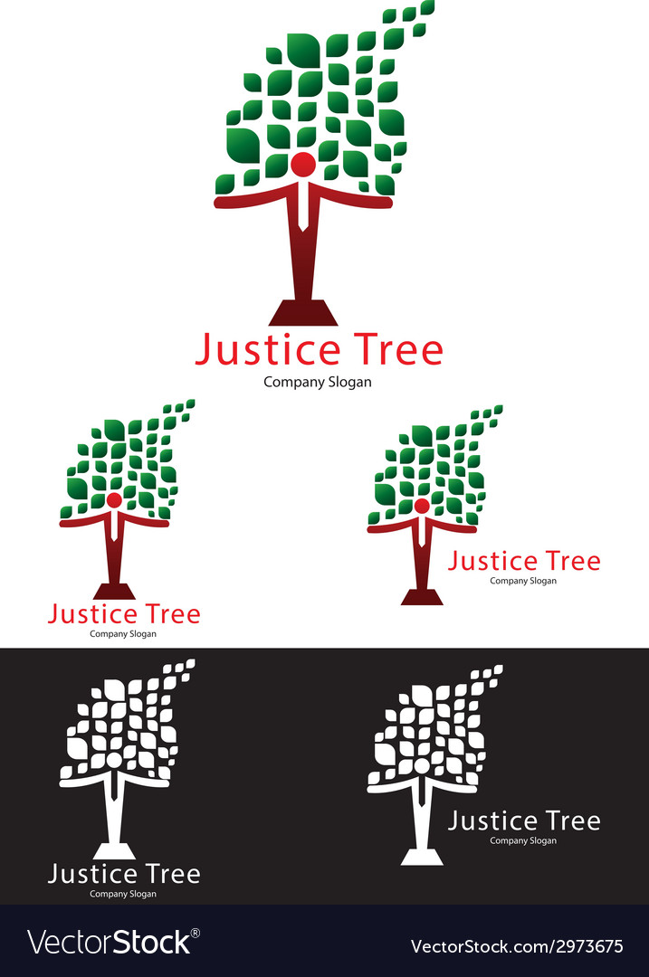 Justice tree logo templates vector | Price: 1 Credit (USD $1)
