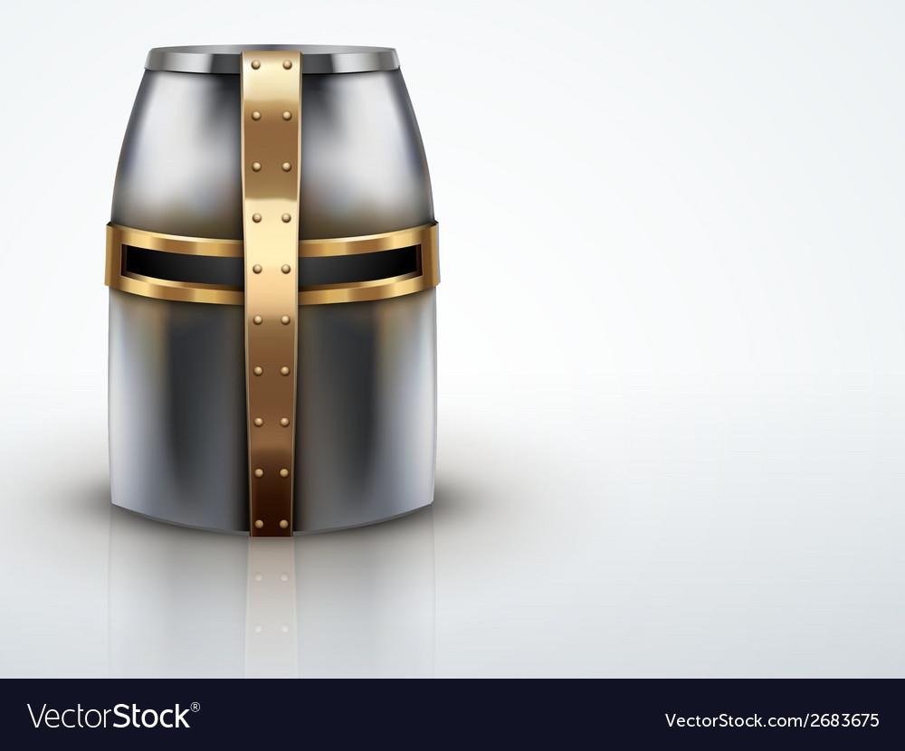 Light background crusader knights helmet vector | Price: 1 Credit (USD $1)