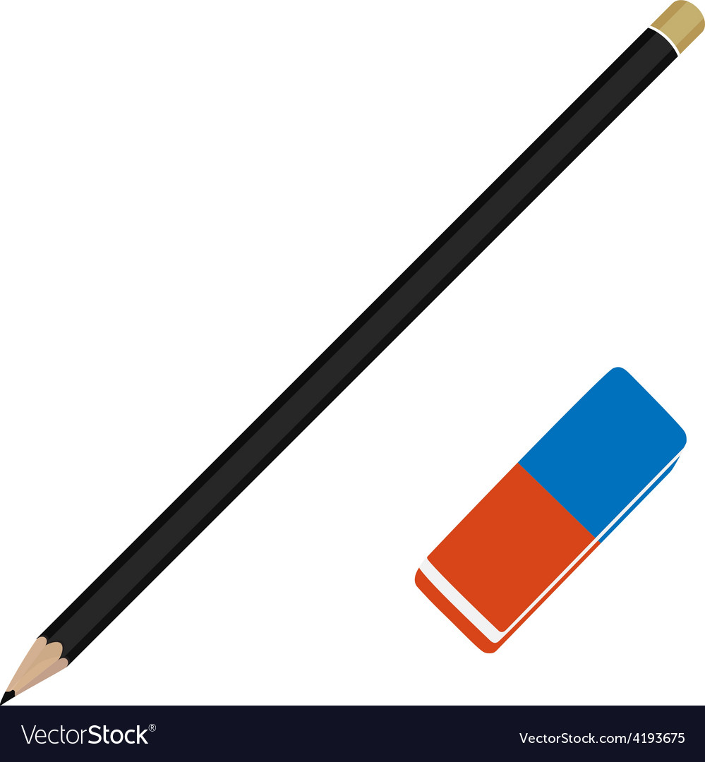 Pencil and eraser vector | Price: 1 Credit (USD $1)