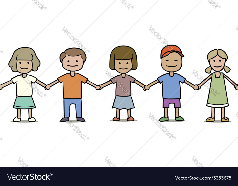 Seamless group of children vector | Price: 1 Credit (USD $1)