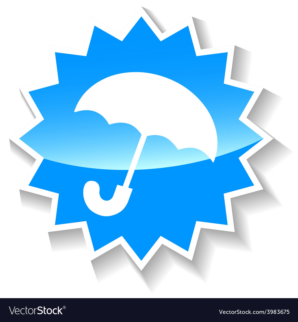 Umbrella blue icon vector | Price: 1 Credit (USD $1)