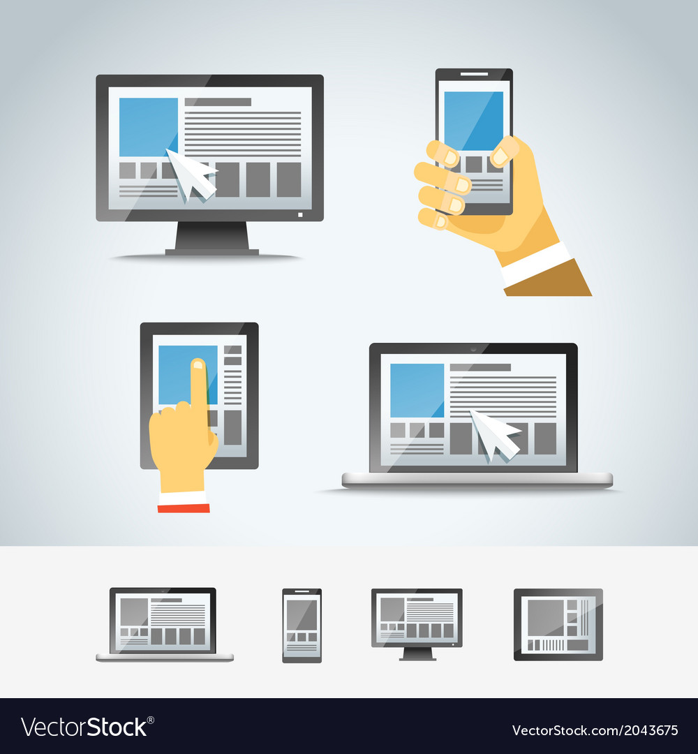 Using modern digital devices vector | Price: 1 Credit (USD $1)