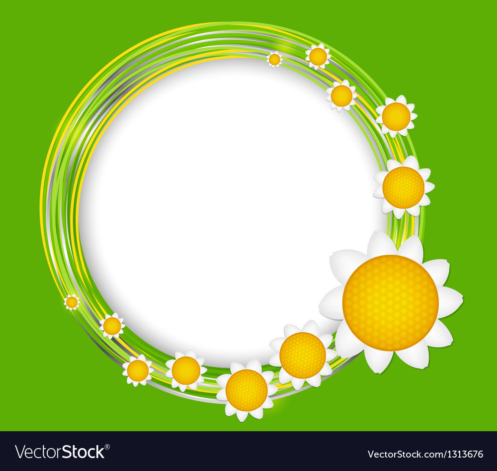 Abstract background with frame and flowers vector | Price: 1 Credit (USD $1)