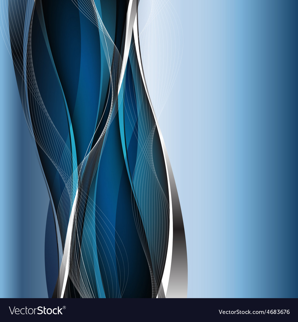 Abstract blue waves - data stream concept vector | Price: 1 Credit (USD $1)
