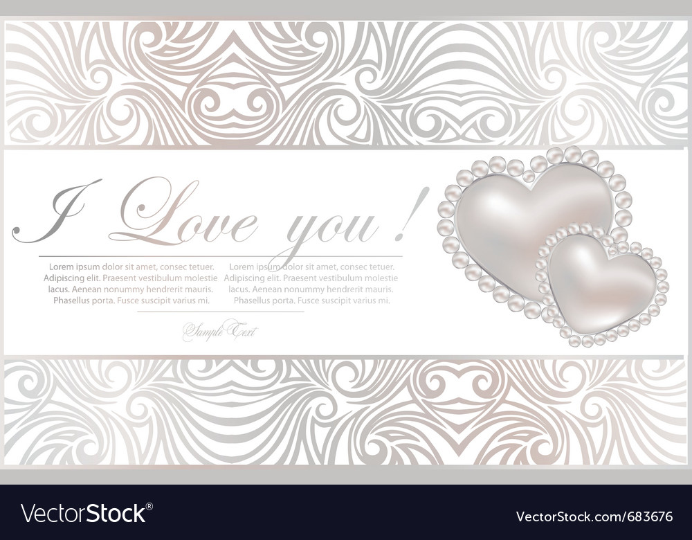 Abstract card with hearts vector | Price: 1 Credit (USD $1)
