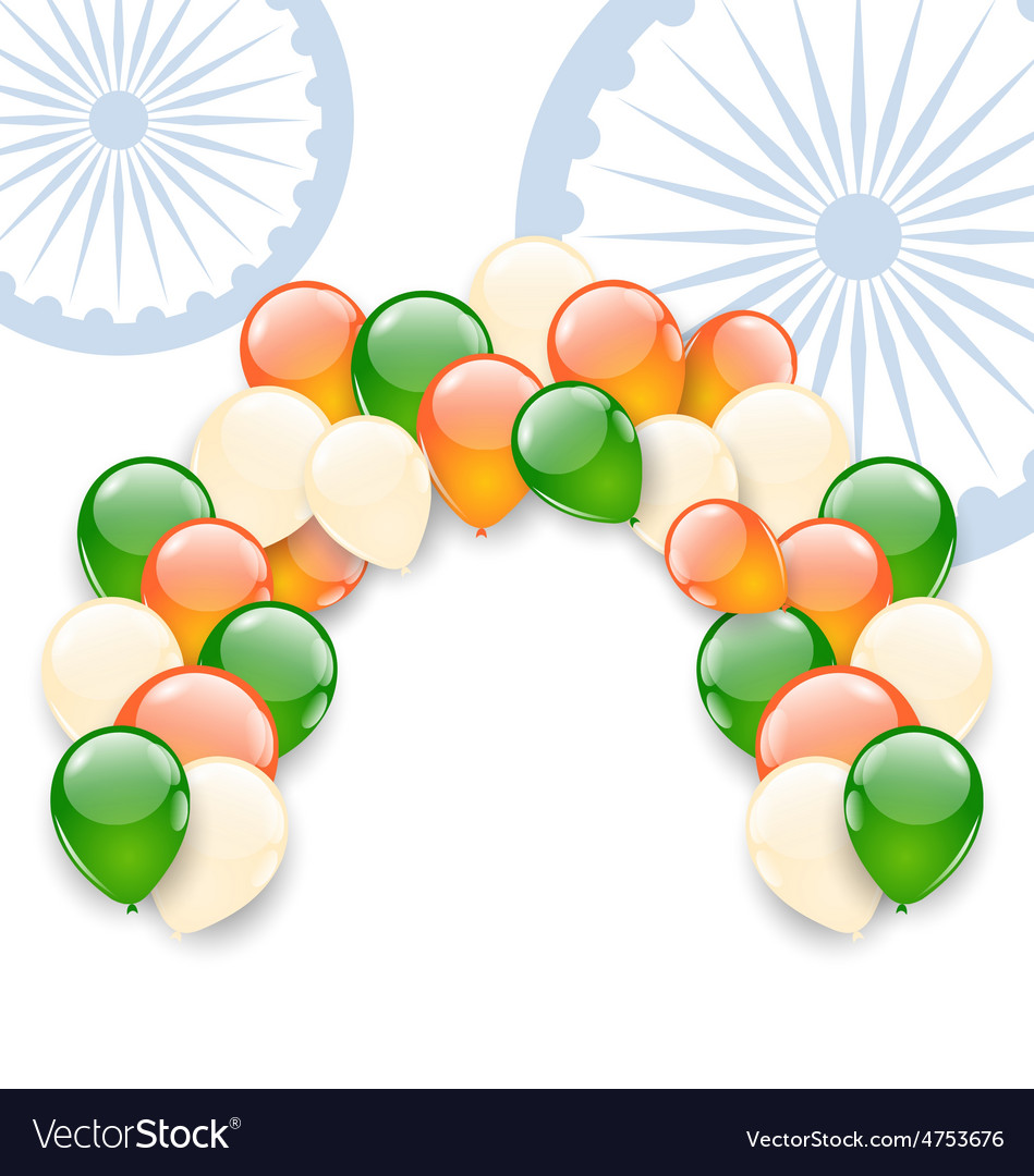 Balloons in national tricolor vector | Price: 1 Credit (USD $1)