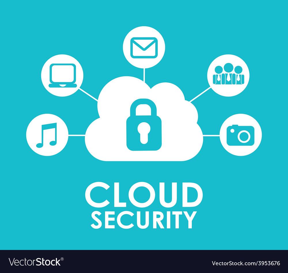Cloud security vector | Price: 1 Credit (USD $1)