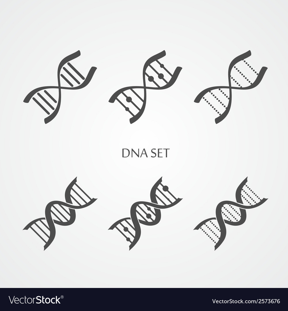 Dna icons set vector | Price: 1 Credit (USD $1)