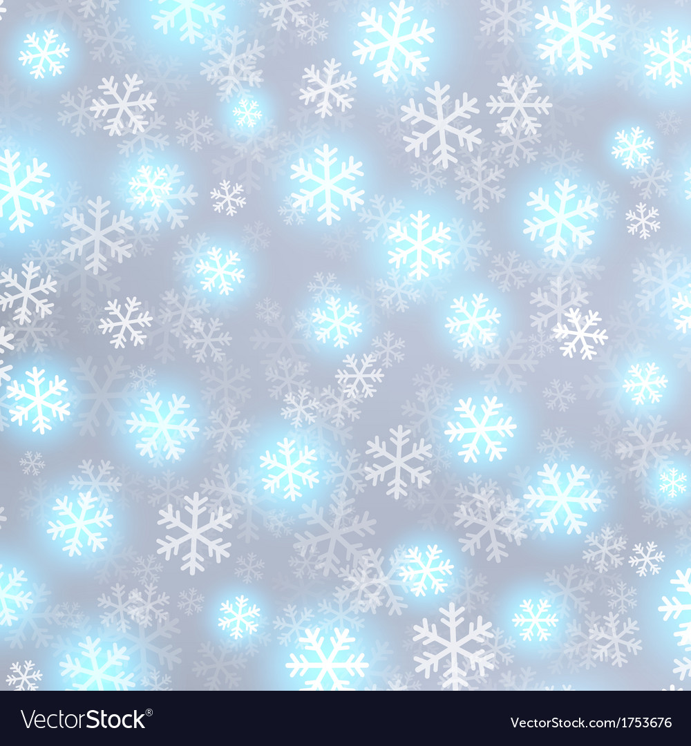 Glowing snow on grey background vector | Price: 1 Credit (USD $1)