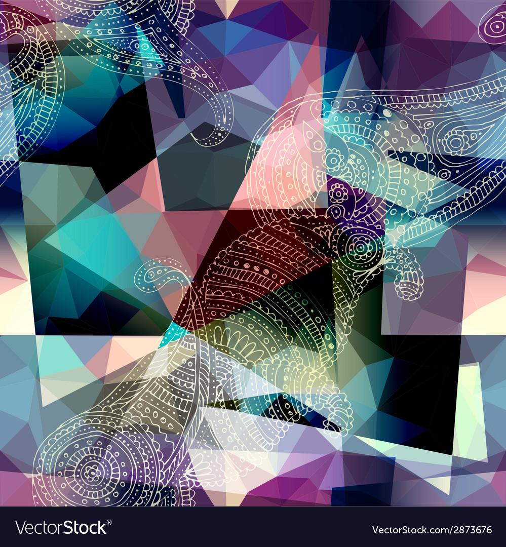 Imitation of cubism style painting vector | Price: 1 Credit (USD $1)