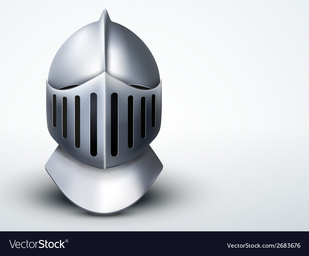 Light background knights helmet vector | Price: 1 Credit (USD $1)
