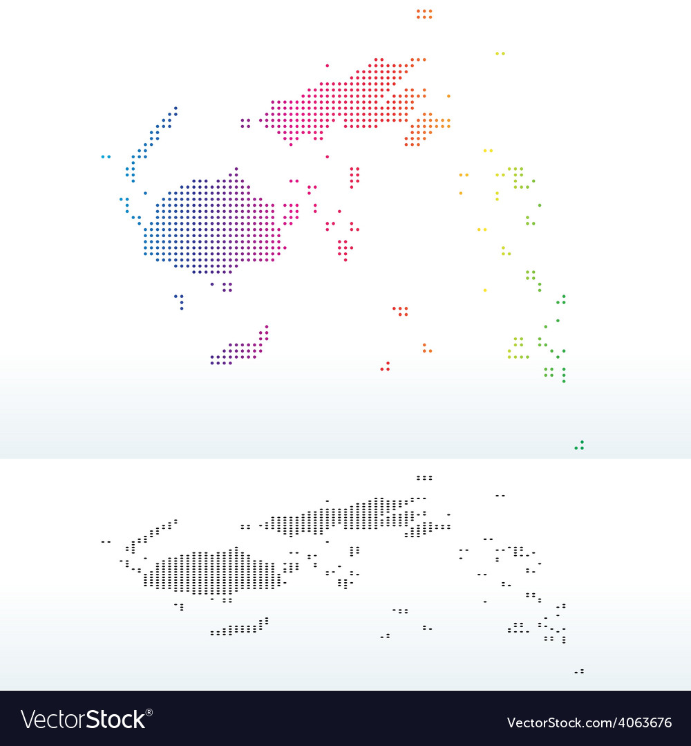 Map of republic of fiji with dot pattern vector | Price: 1 Credit (USD $1)