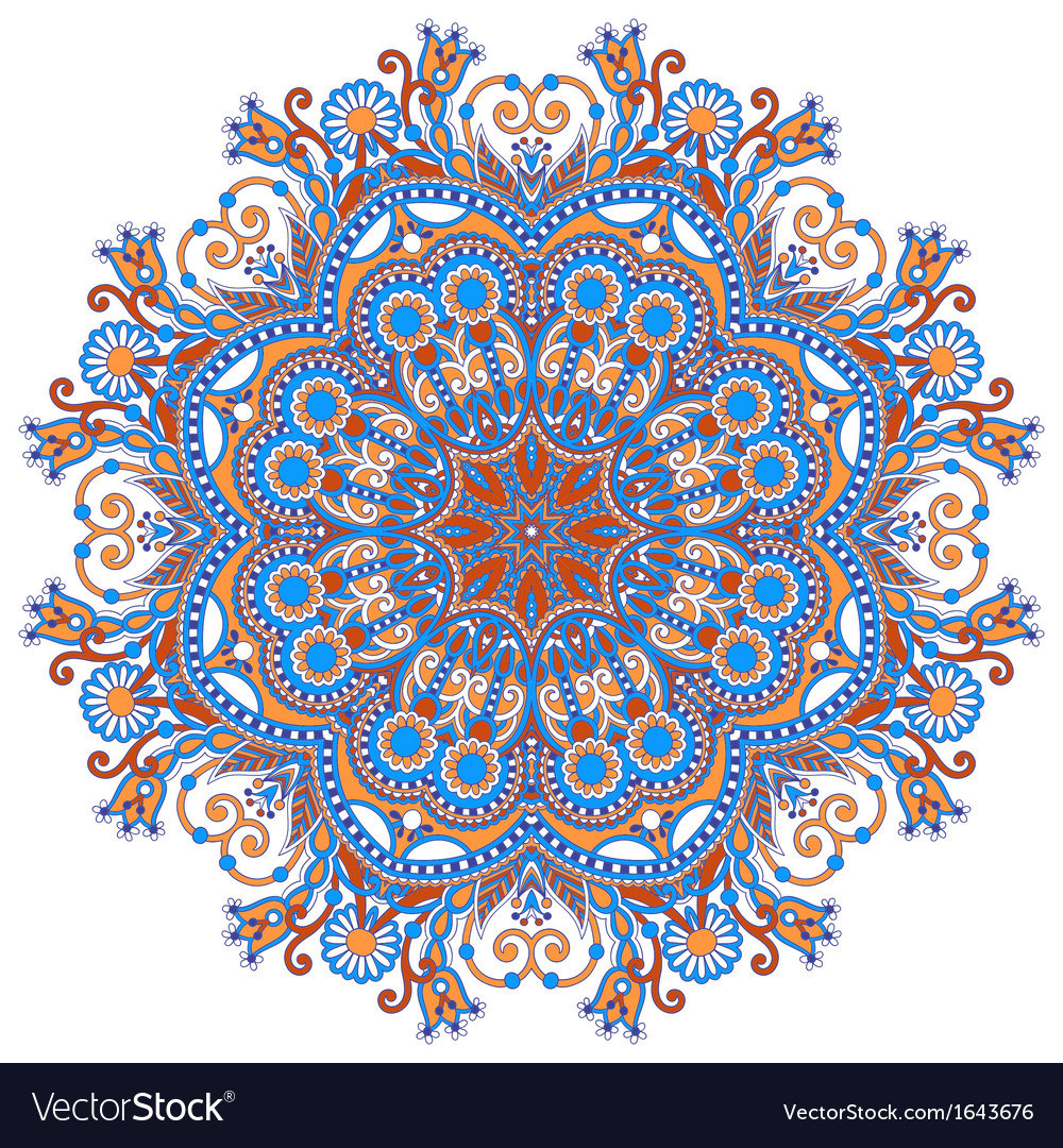 Ornamental geometric doily pattern vector | Price: 1 Credit (USD $1)