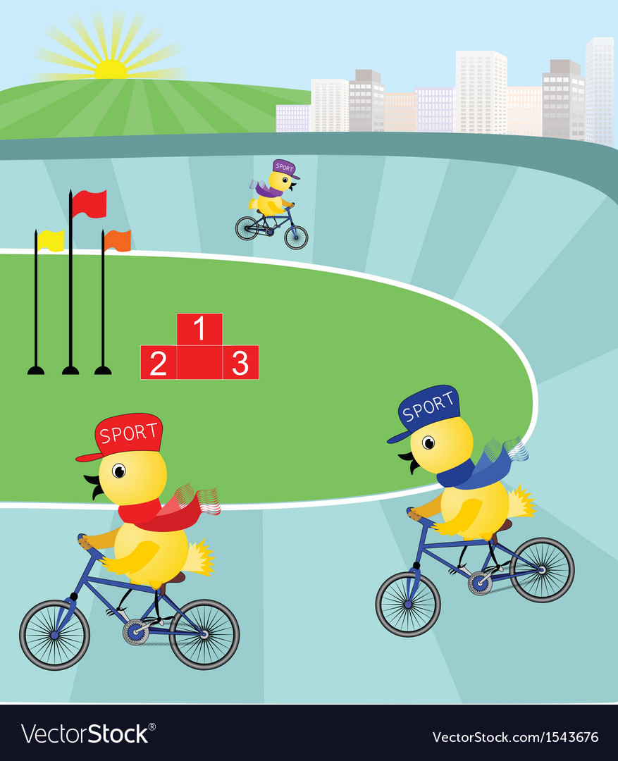 Race to the top on the cycling track vector | Price: 1 Credit (USD $1)