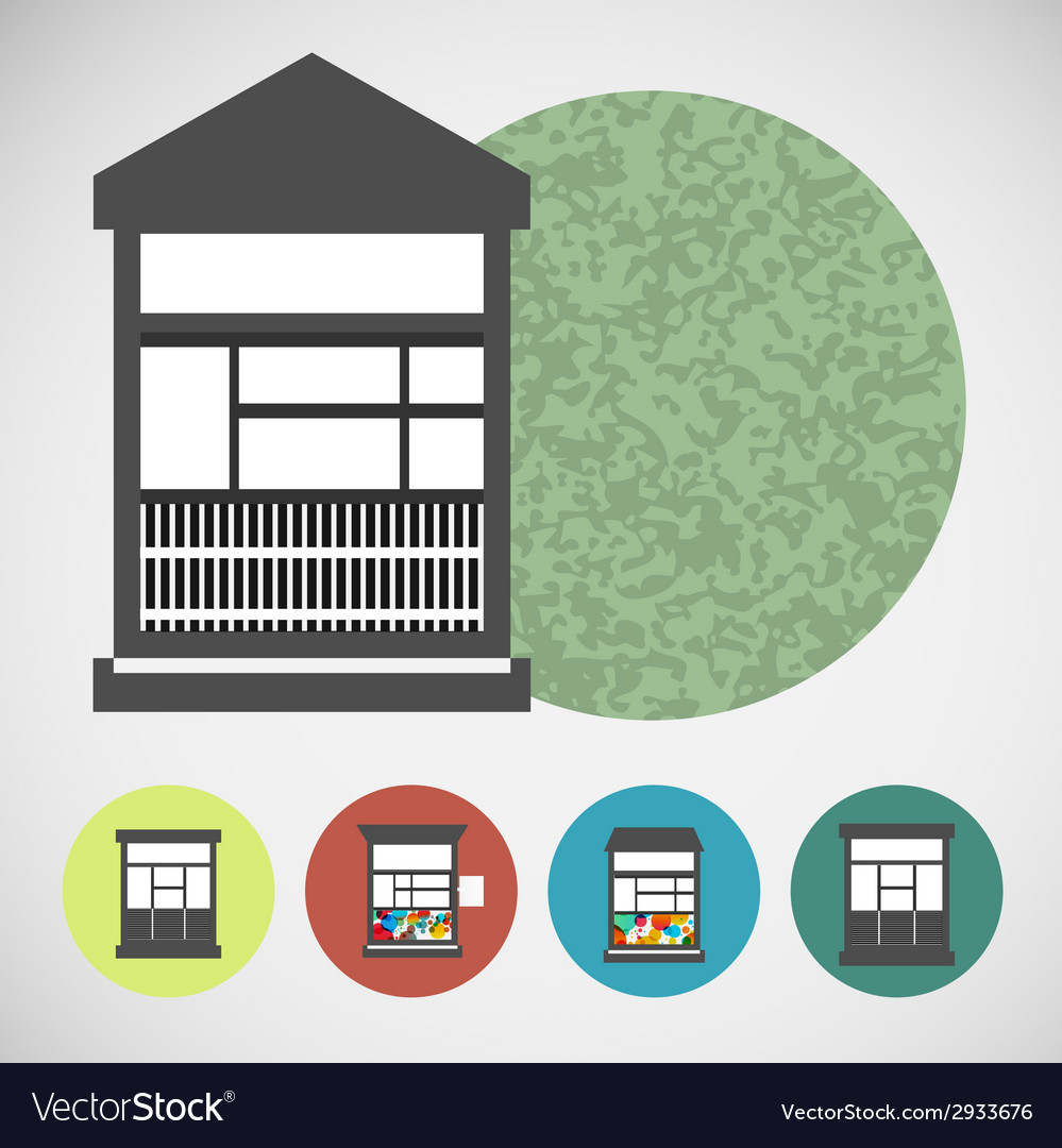 Small set house for street retail vector | Price: 1 Credit (USD $1)