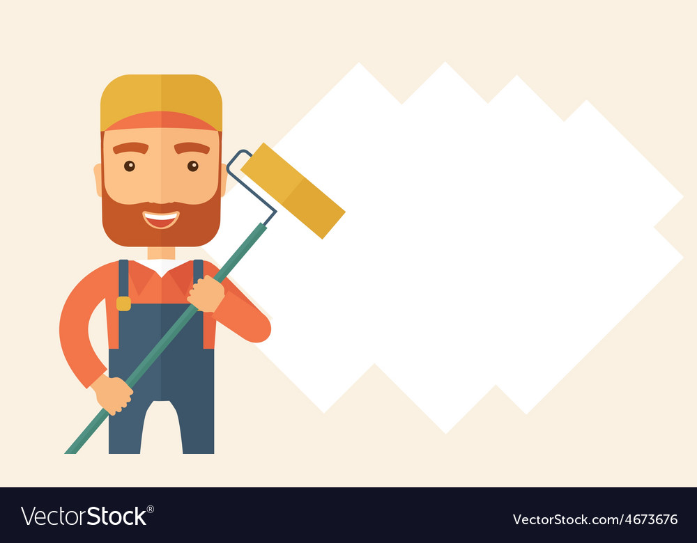Standing glass cleaner vector   Price: 1 Credit (USD $1)
