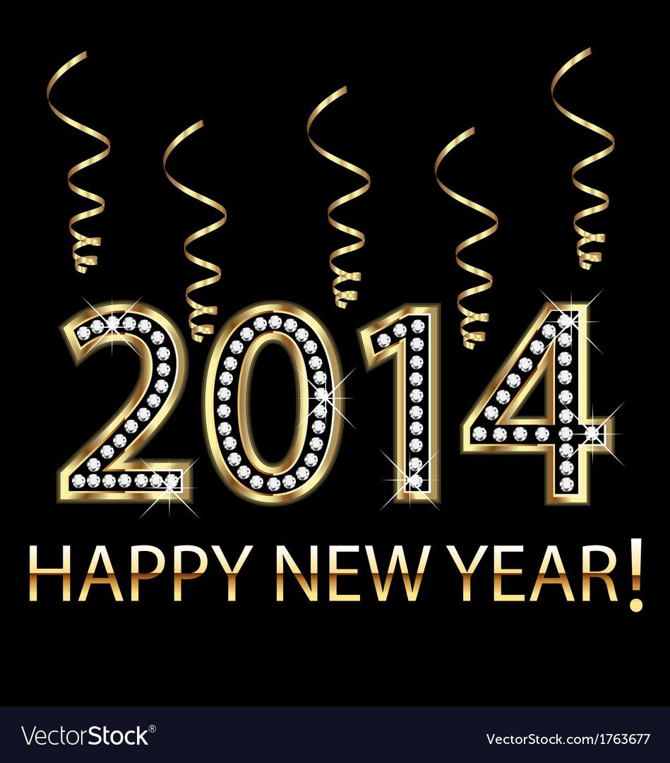 2014 happy new year vector   Price: 1 Credit (USD $1)