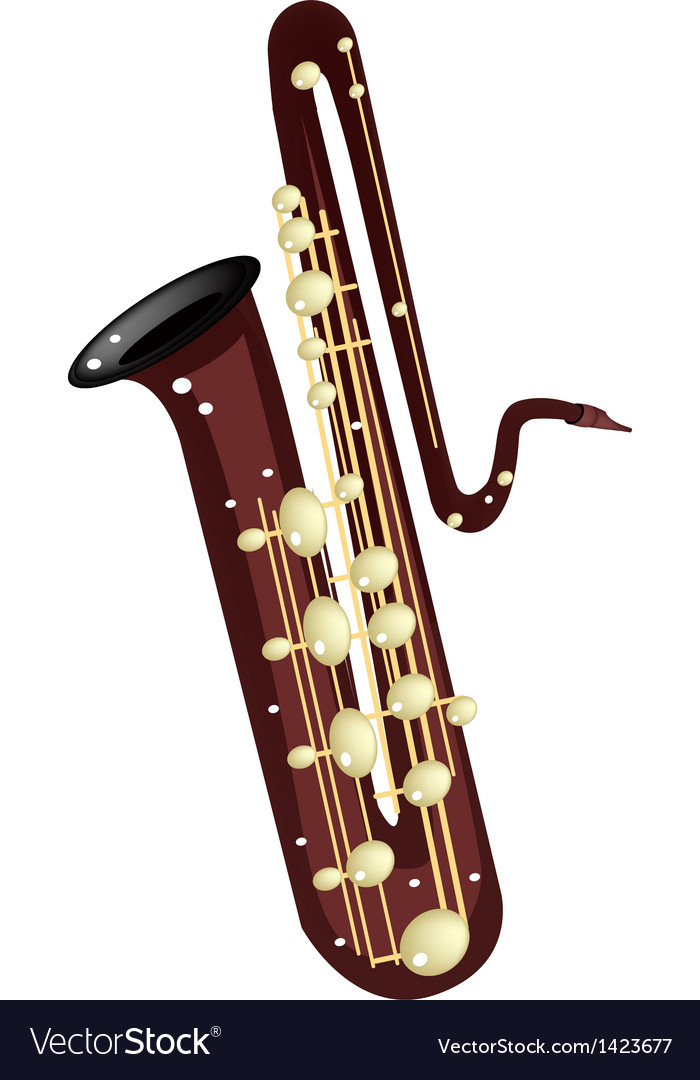 A musical bass saxophone vector | Price: 1 Credit (USD $1)
