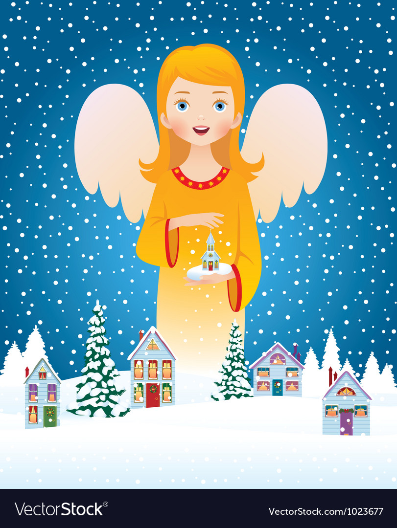 Blessing of christmas angel vector | Price: 3 Credit (USD $3)