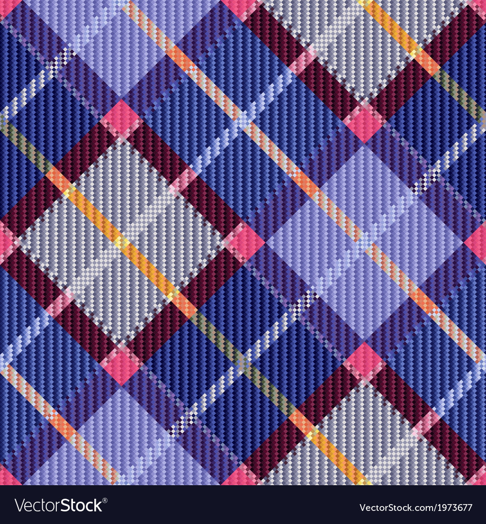 Checkered seamless diagonal tartan texture vector | Price: 1 Credit (USD $1)