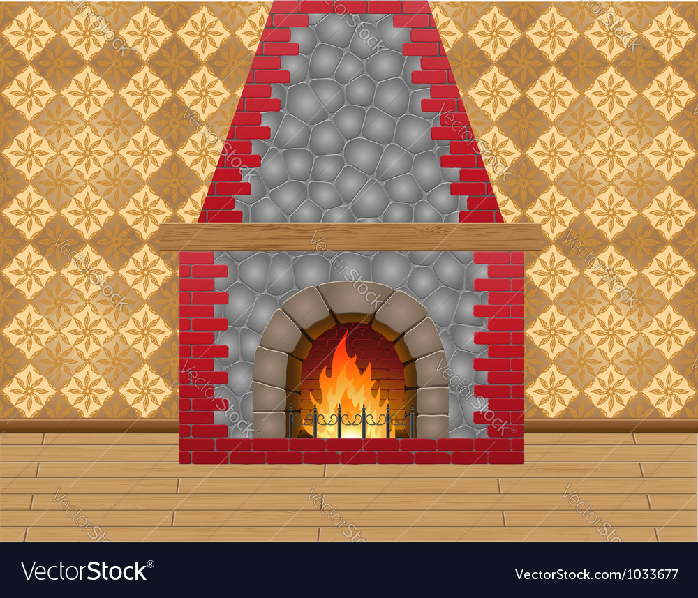 Fireplace 02 vector | Price: 1 Credit (USD $1)