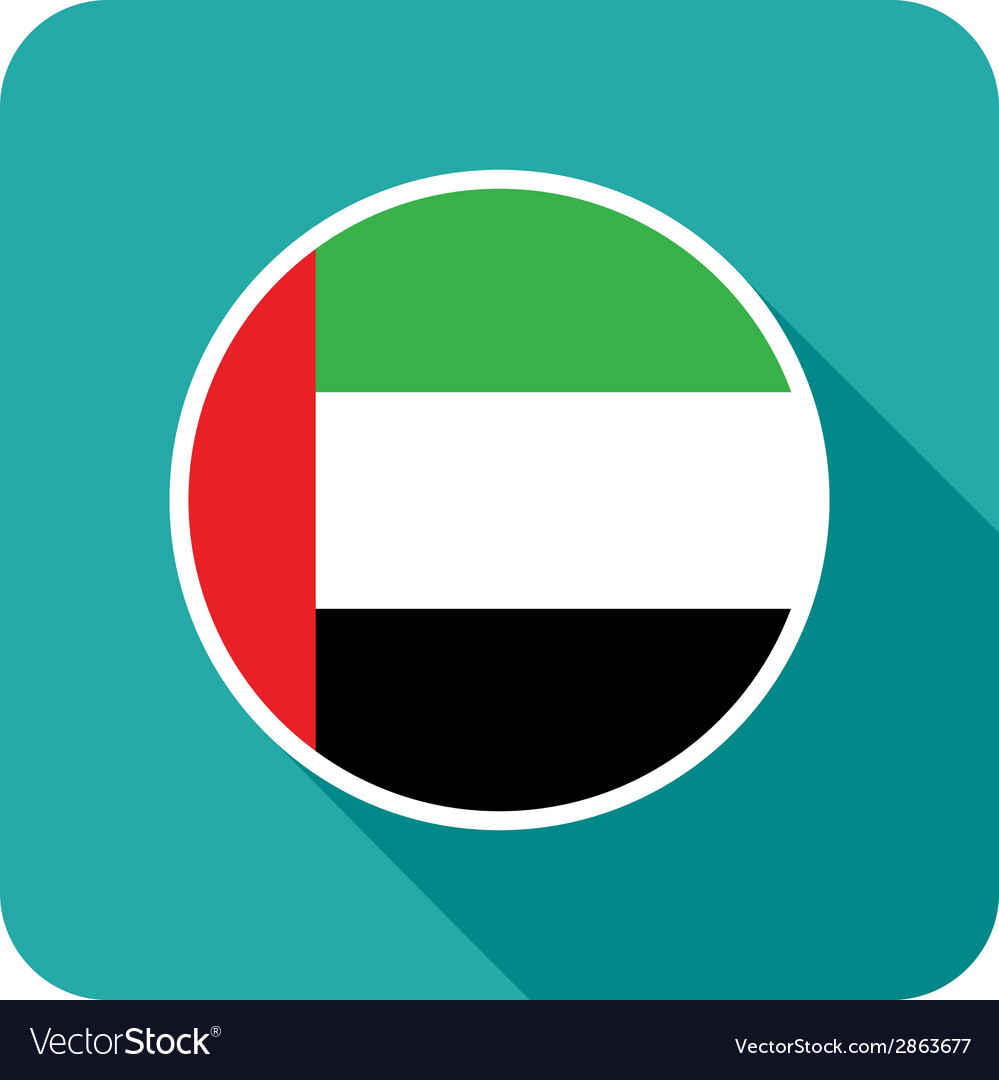Flat uae icon vector | Price: 1 Credit (USD $1)