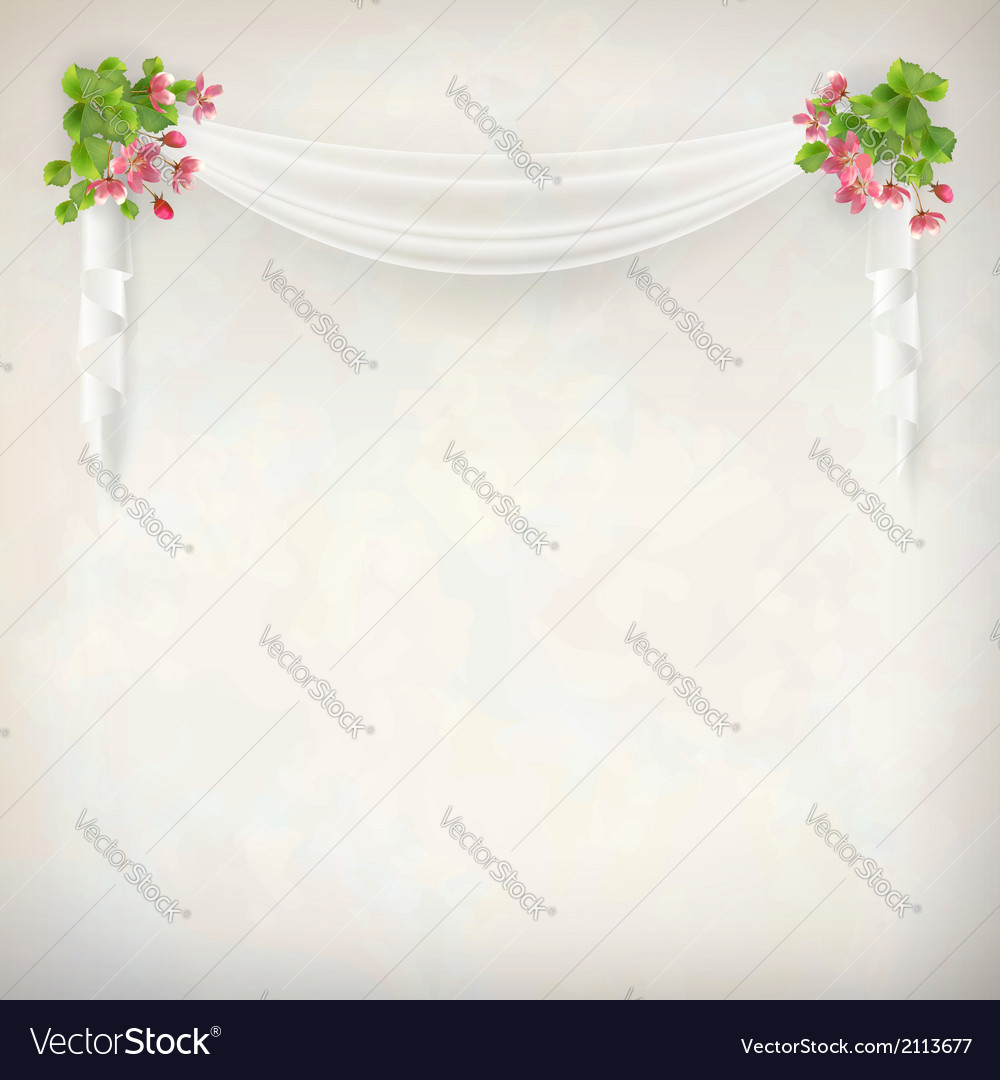 Floral vintage wedding background vector | Price: 1 Credit (USD $1)