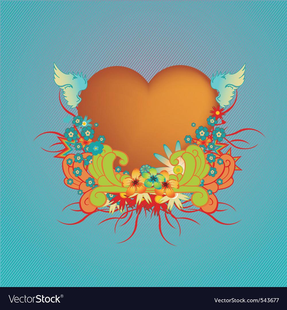 Funky valentine design vector | Price: 1 Credit (USD $1)
